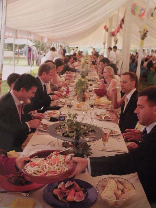 Family Style Dinner West Aussie Wedding