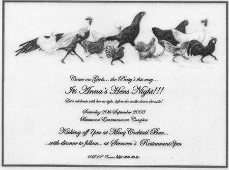 Hens Invites