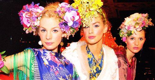 Colourful headgear