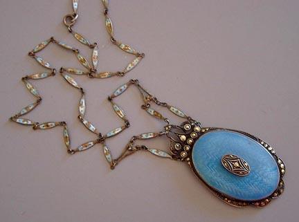 German_blueenamel and marcasite locket23227b_morningGlory