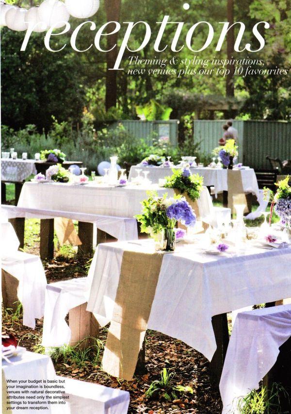 Picnic Tables West Aussie Wedding